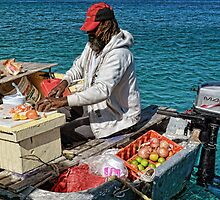 Conch salad minute in Nassau, The Bahamas by 242Digital