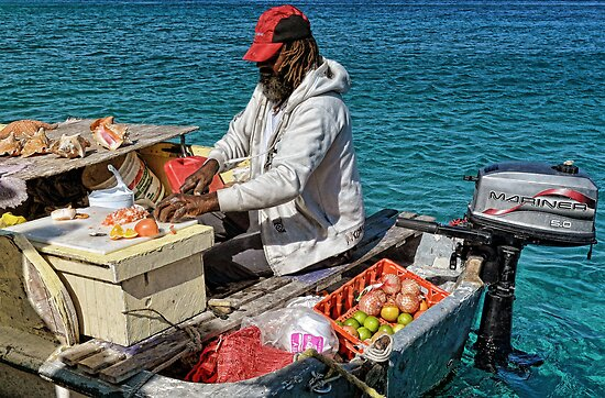 Conch salad minute in Nassau, The Bahamas by Jeremy Lavender Photography