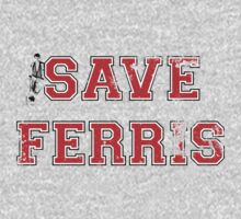 Save Ferris (red) Kids Tee