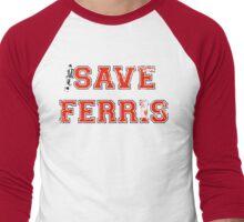 Save Ferris (red) Men's Baseball ¾ T-Shirt