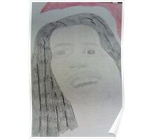 Bob Marley Santa Poster