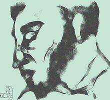 Head of a faun -(040413)- Digital art/mouse drawn/Program: Harmony by paulramnora