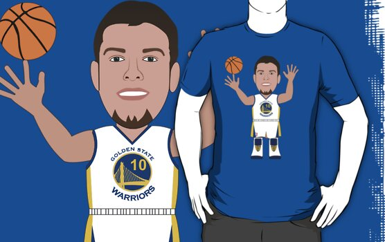 NBAToon of David Lee, player of Golden State Warriors by D4RK0