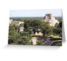Uxmal Mayan Pyramids, Mexico. Greeting Card
