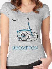 Brompton Folding Bike Women's Fitted Scoop T-Shirt