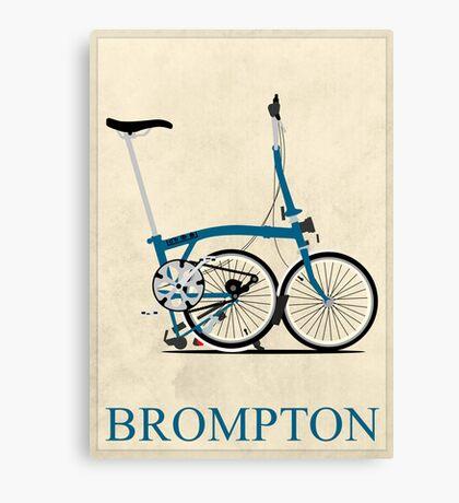 Brompton Folding Bike Canvas Print