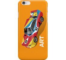 Art Car (orange) iPhone Case/Skin