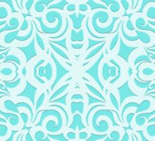 Floral abstract background Sticker