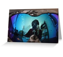 Reflected and distorted Greeting Card