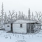 Stump Sitters Original Deer Camp (Side View) by Jack Brauer