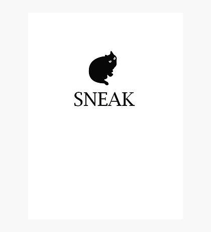 sneak black cat Photographic Print