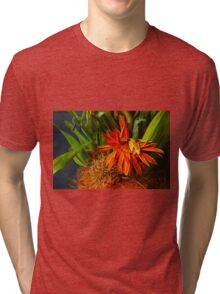 Tired Gerbera Tri-blend T-Shirt