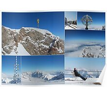 Zugspitze View - Top of the Mountain Poster