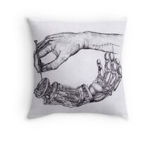 Repair of hands Throw Pillow