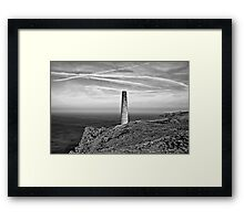 Levant to Pendeen View Black and White Framed Print