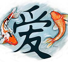 Koi Surrounding Love by Pamela Fischer