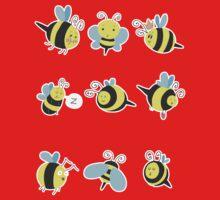 Nine Cute Little Bumblebees One Piece - Long Sleeve
