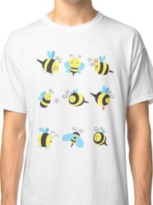 Nine Cute Little Bumblebees Classic T-Shirt