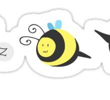 Nine Cute Little Bumblebees Sticker