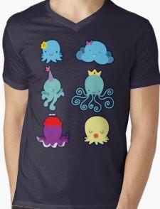 Six Cute Little Octopus Mens V-Neck T-Shirt