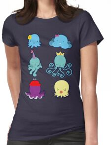 Six Cute Little Octopus Womens Fitted T-Shirt