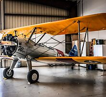 Boeing PT17 Stearman 1940s bi-plane by chris-csfotobiz