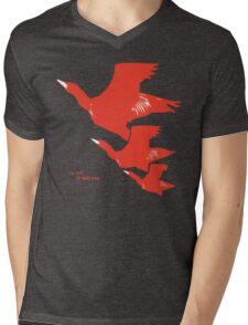 Persona 4 Yosuke Hanamura shirt (red birds) Mens V-Neck T-Shirt
