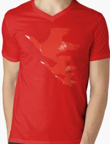 Persona 4 Yosuke Hanamura shirt (red birds) Mens V-Neck T-Shirt