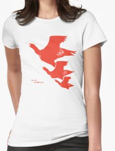 Persona 4 Yosuke Hanamura shirt (red birds) Womens Fitted T-Shirt