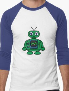 Mini Robot Men's Baseball ¾ T-Shirt
