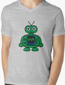 Mini Robot Mens V-Neck T-Shirt