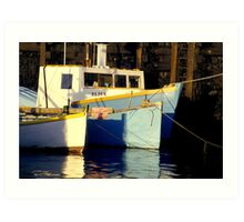 Fishing boats Art Print