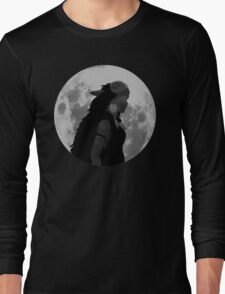Mononoke black and white moon Long Sleeve T-Shirt