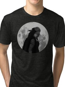 Mononoke black and white moon Tri-blend T-Shirt