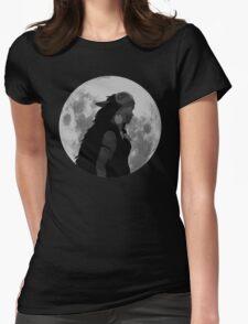 Mononoke black and white moon Womens Fitted T-Shirt