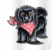 Black Pekingese Pink Princess Poster