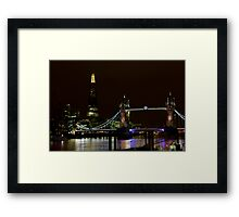 The Shard and Tower Bridge Framed Print