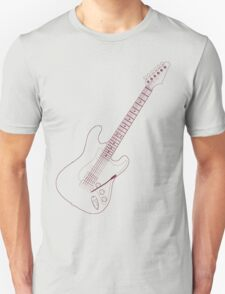 Detailed Pencil freehand Guitar Unisex T-Shirt