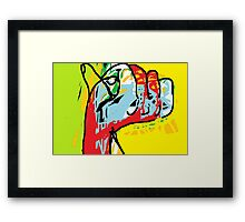 Multi-coloured abstract hand -(040413)- Digital art/mouse drawn/MS Paint Framed Print