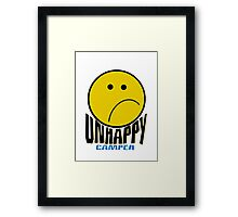 Unhappy Camper Framed Print