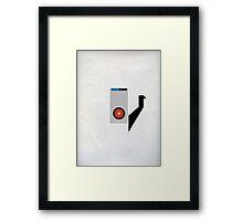Hal 9000 Minimalist Monkey Framed Print