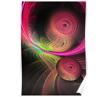 Warping a disc, fractal artwork Poster