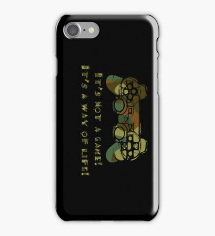 It's not a game camo iPhone Case/Skin
