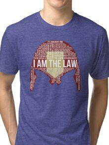 Judge Dredd Typography Tri-blend T-Shirt