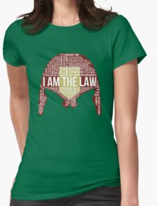 Judge Dredd Typography Womens Fitted T-Shirt