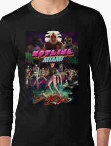 Hotline Miami Cover Long Sleeve T-Shirt