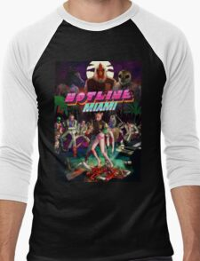 Hotline Miami Cover Men's Baseball ¾ T-Shirt