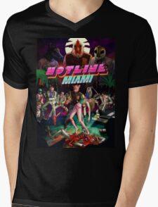 Hotline Miami Cover Mens V-Neck T-Shirt