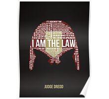 Judge Dredd Typography Poster