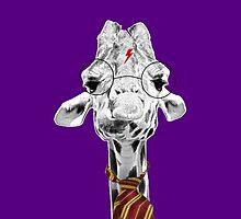 Harry Potter Giraffe Purple by PirateGiraffe